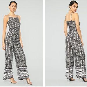 Fashion Nova Pants - Fashion Nova Patterned Jumpsuit